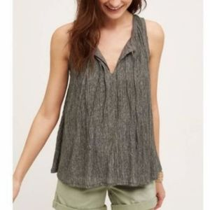 Anthropologie Meadow Rue Gray Swing Tank Size XS